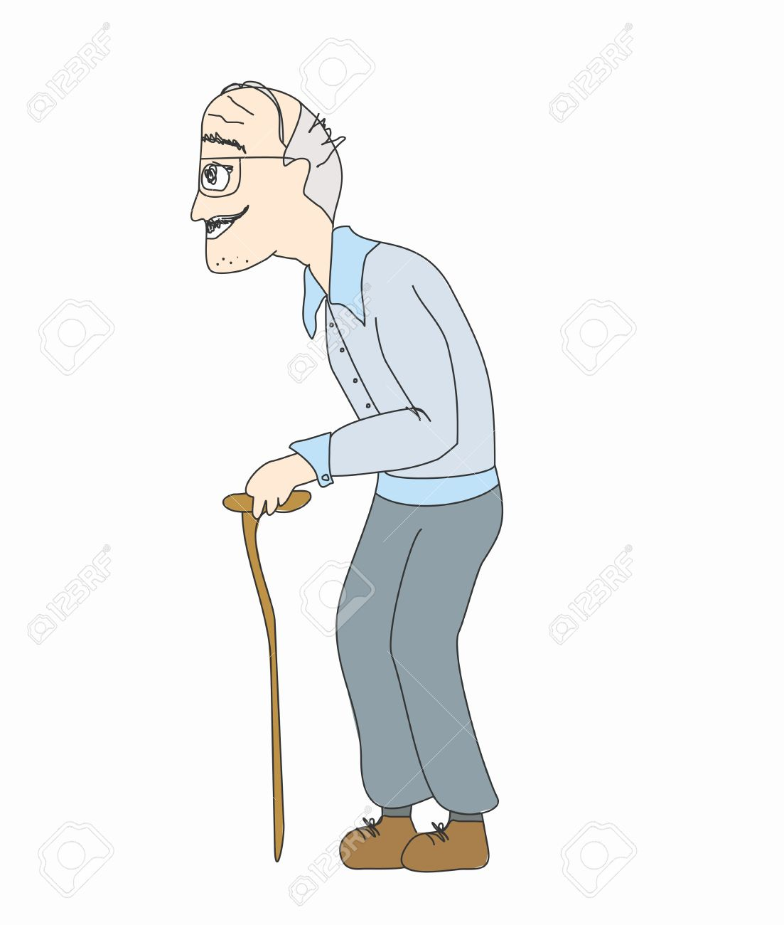 The old man on a white background, vector Stock Vector - 15500872