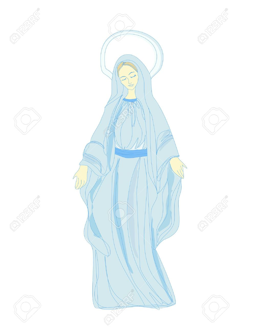 Blessed Mother Cliparts, Stock Vector And Royalty Free Blessed ...