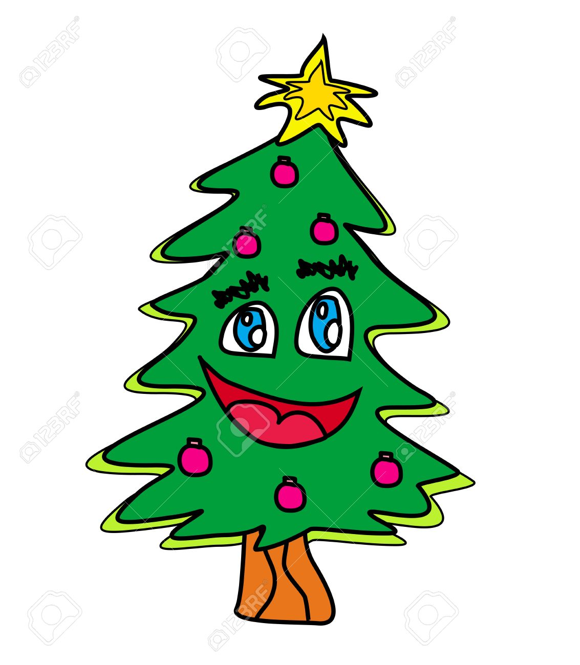 Christmas Tree Cartoon Character Royalty Free Cliparts Vectors And Stock Illustration Image 15975202 Justin roiland has voiced characters like oscar from fish hooks, lemongrab from at, and. christmas tree cartoon character