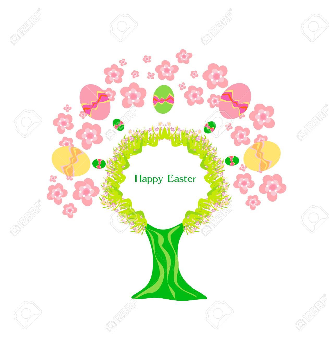 Easter tree frame Stock Vector - 16351835