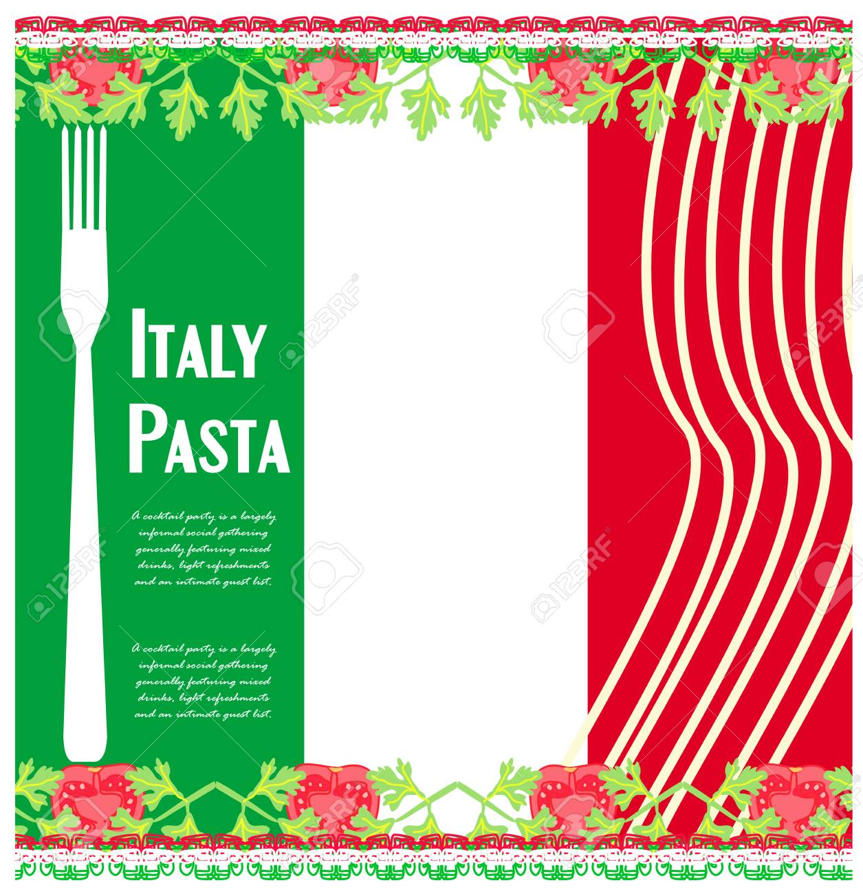 pasta pattern Stock Vector - 16956704