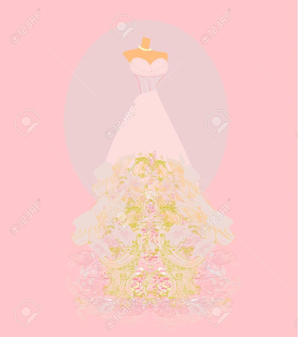 Wedding dress  for Wedding invitations Stock Vector - 17058667