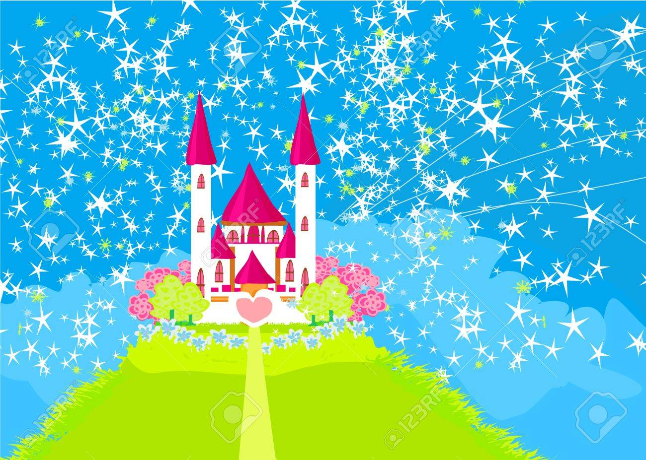 Magic Fairy Tale Princess Castle Stock Vector - 17192535