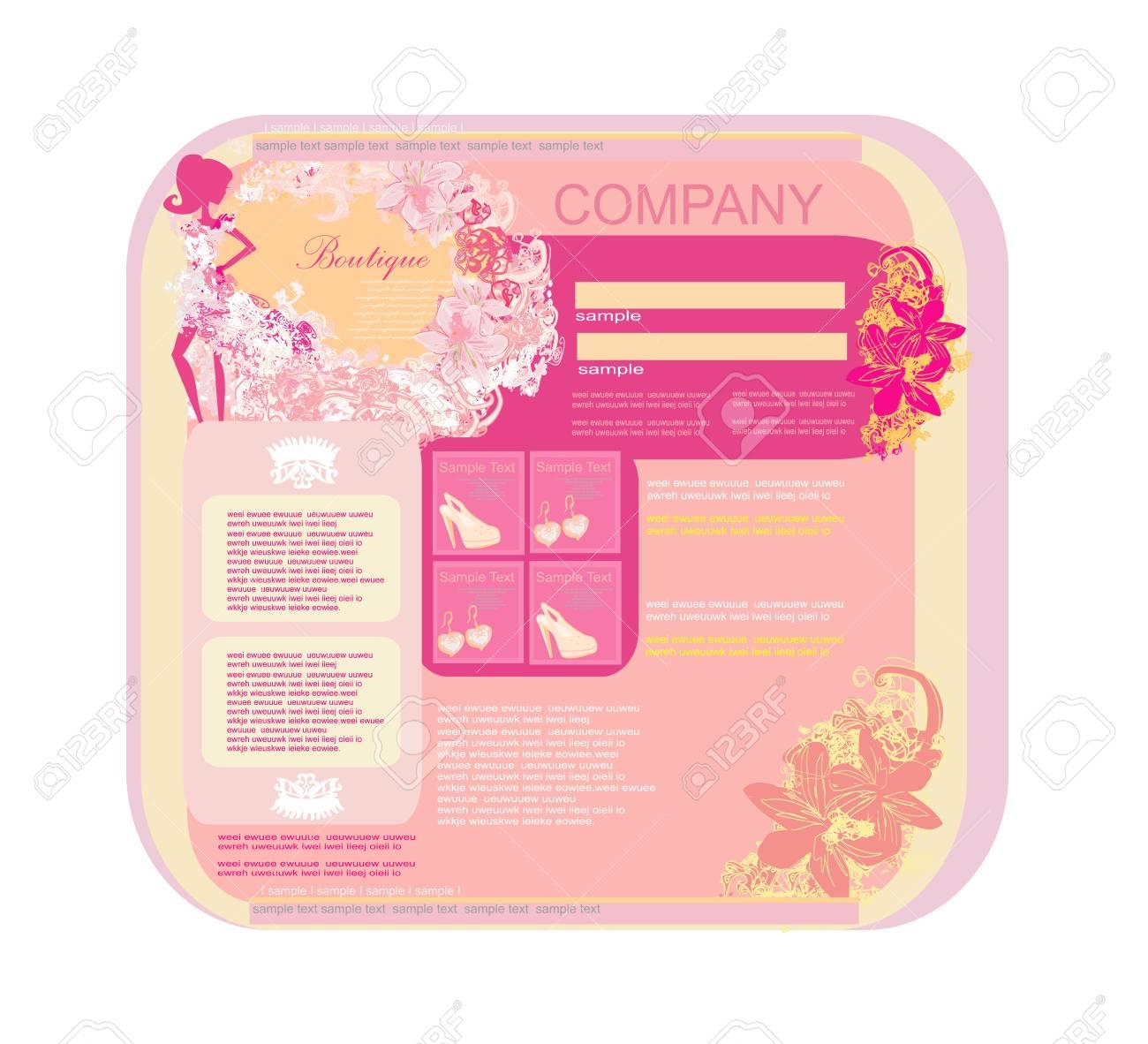 Fashion shopping Website template Stock Vector - 17354898