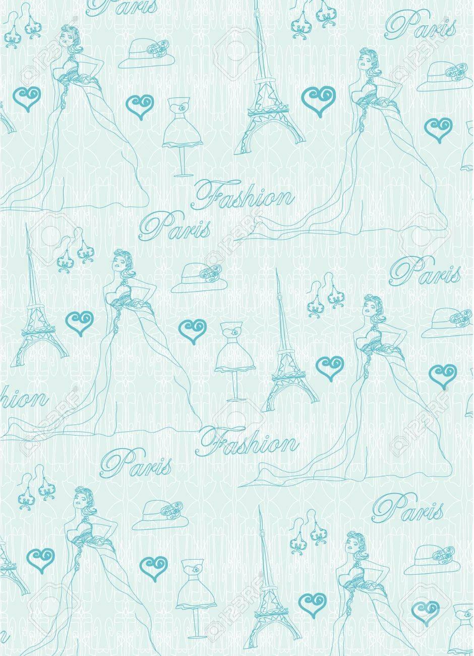 Paris seamless pattern Stock Vector - 17667315