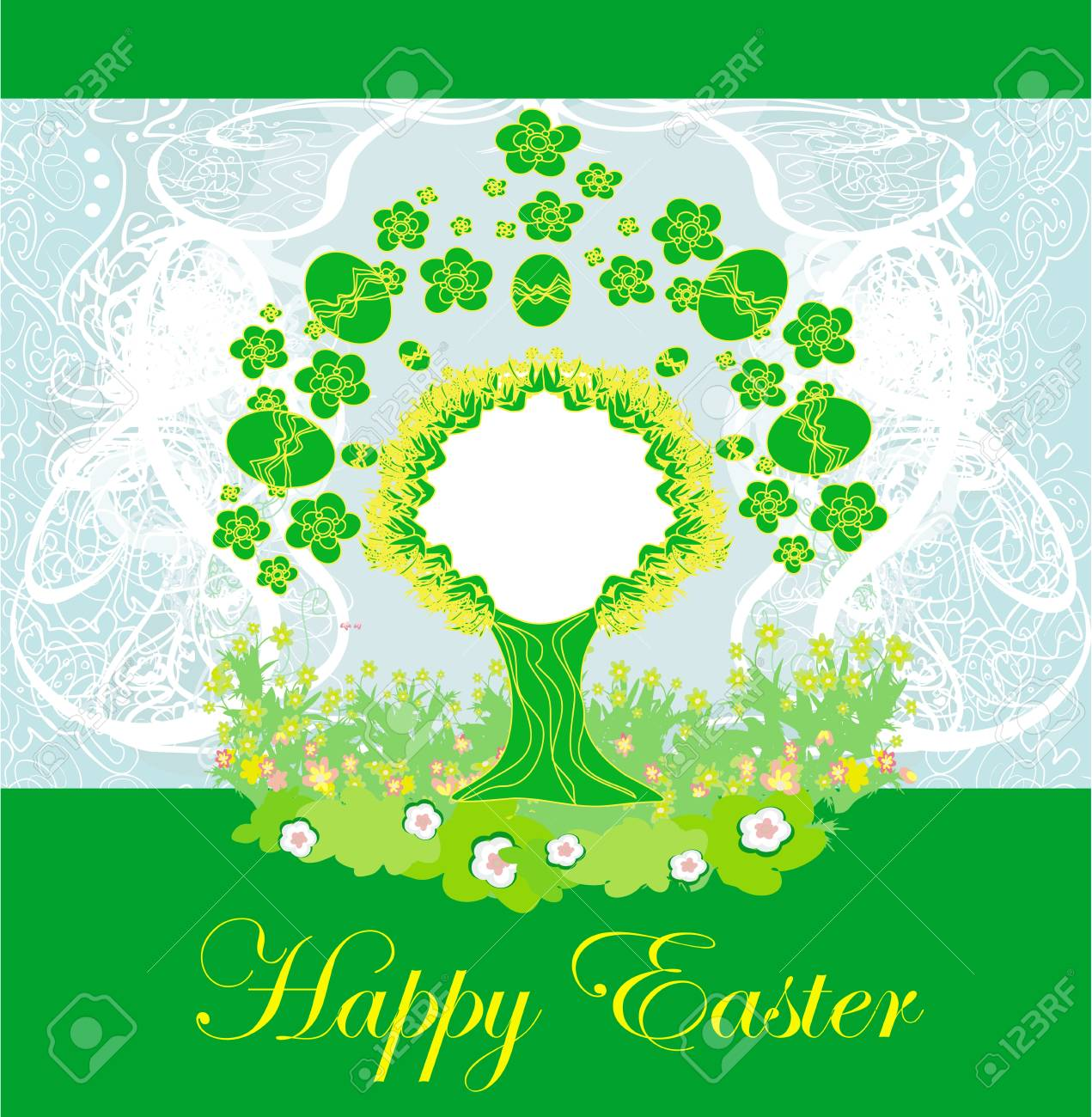 Easter tree frame Stock Vector - 17667461