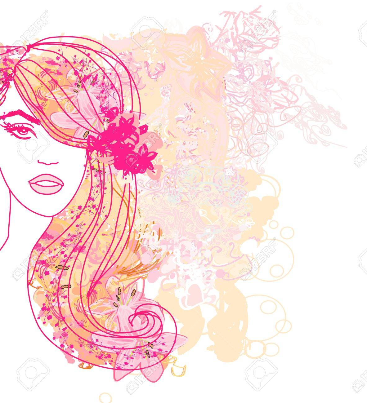 Creative fashion portrait, vector Stock Vector - 17667459