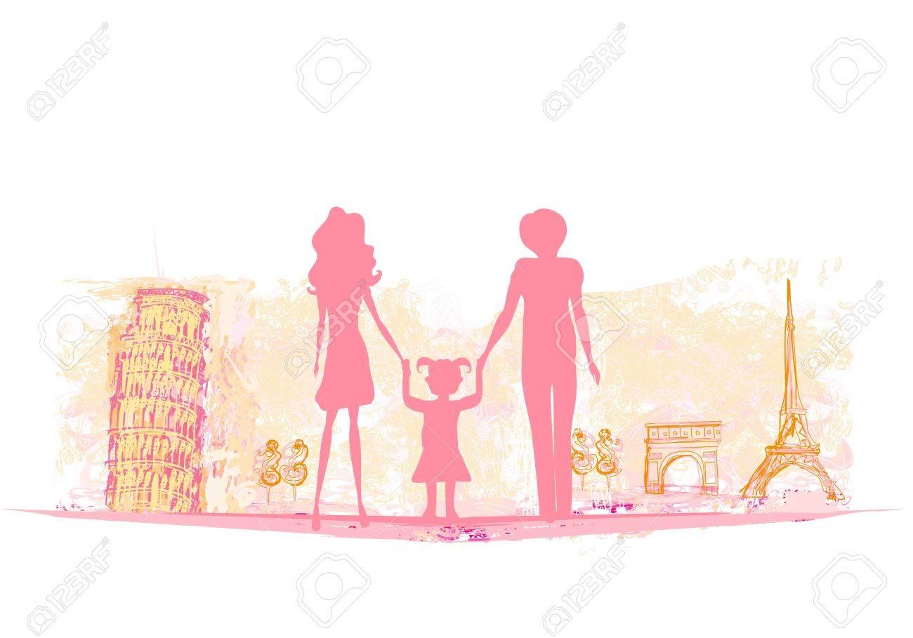 Family Travel Background Stock Vector - 17667918