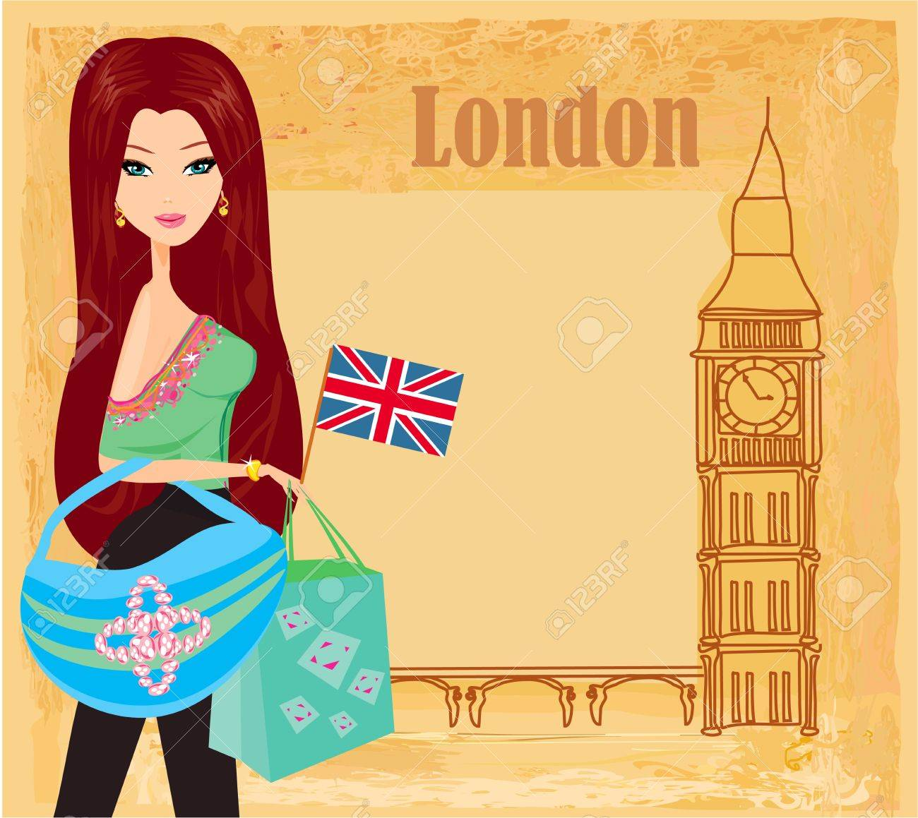 Image result for free cartoon london girl