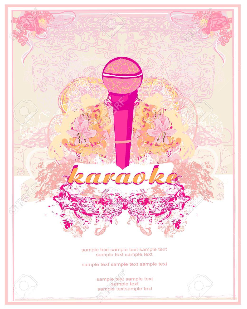 Banner with microphone karaoke party design royalty free cliparts banner with microphone karaoke party design stock vector 18409959 stopboris