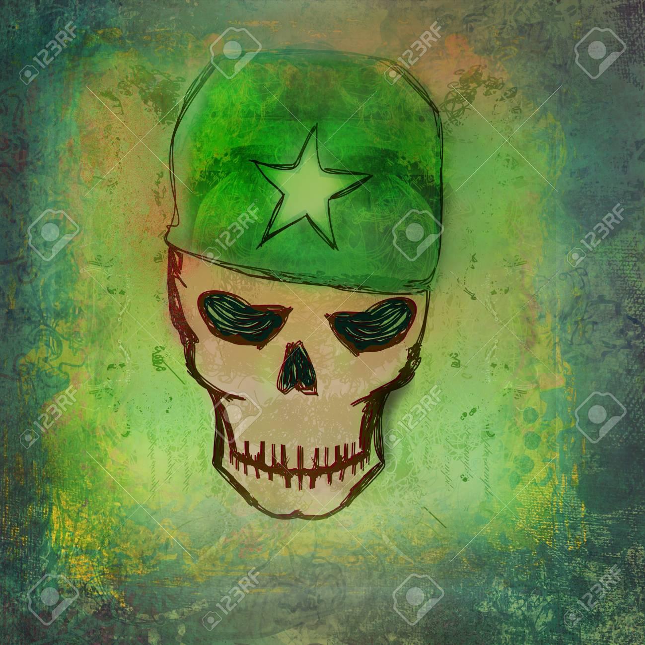 war grunge skull Stock Photo - 19339462