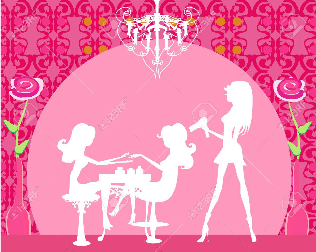 Vector illustration of the beautiful woman in beauty salon - 19630997
