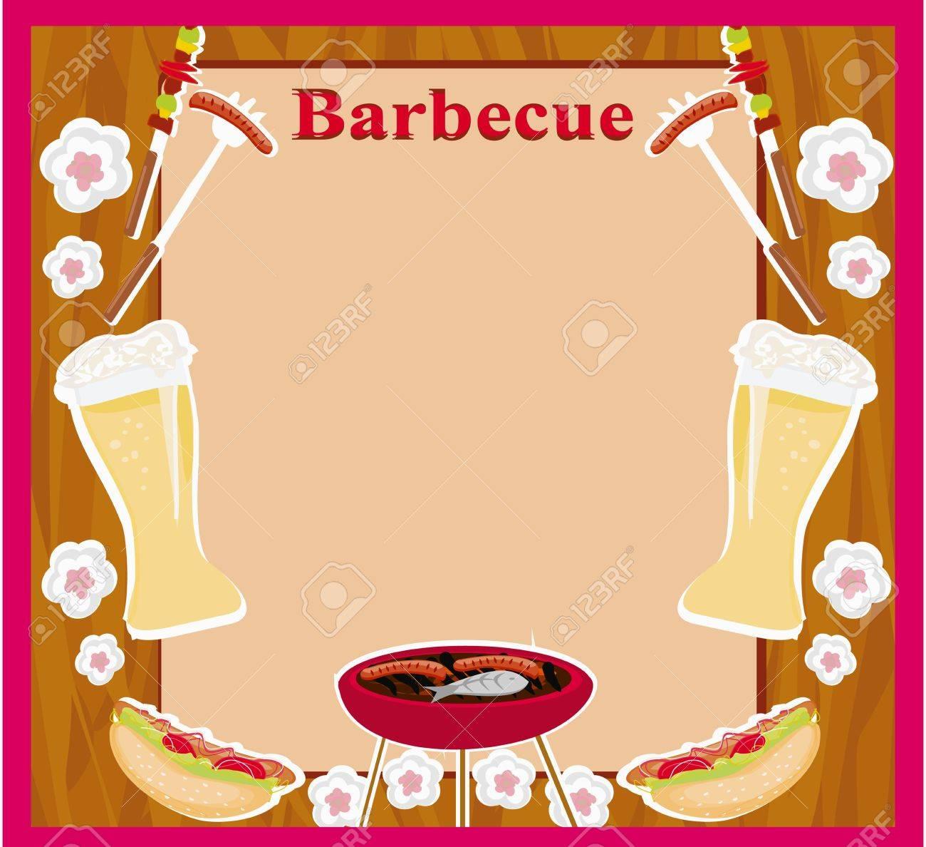 Barbecue Party Invitation Stock Vector - 19631047
