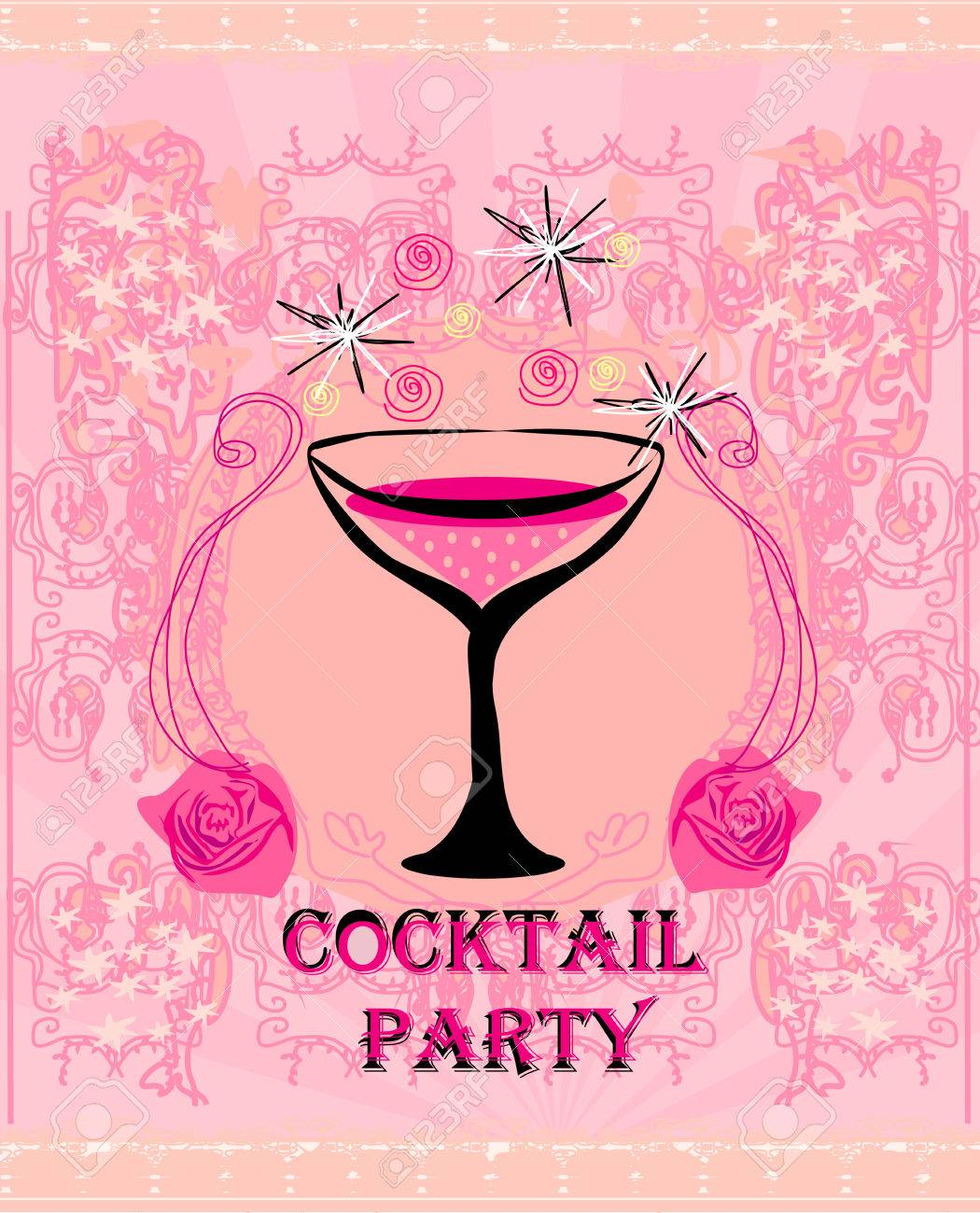 Cocktail Party Invitation Card Royalty Free Cliparts Vectors And – Cocktail Party Invitation Cards