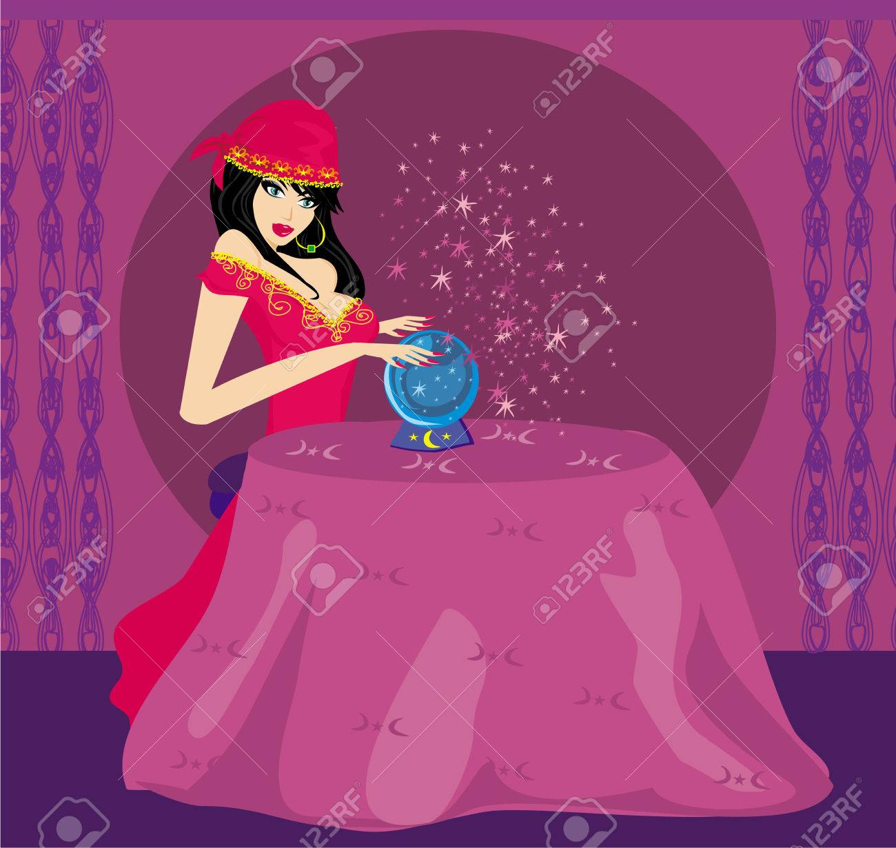 Fortune-teller with Crystal Ball - 25086358