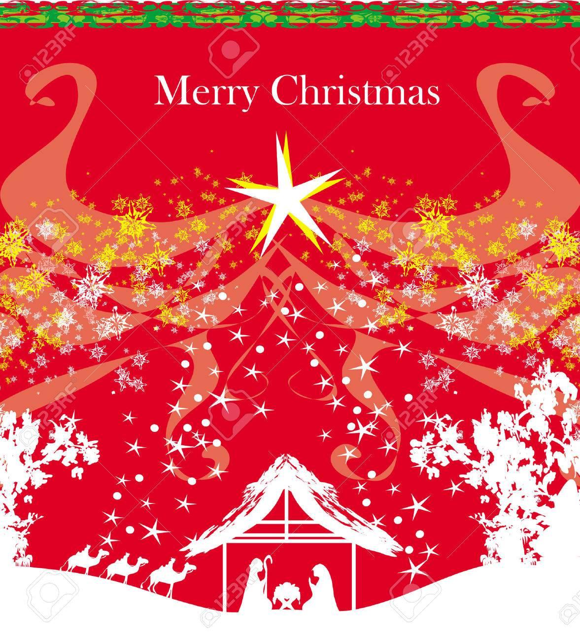 Biblical scene - birth of Jesus in Bethlehem. - 29860052