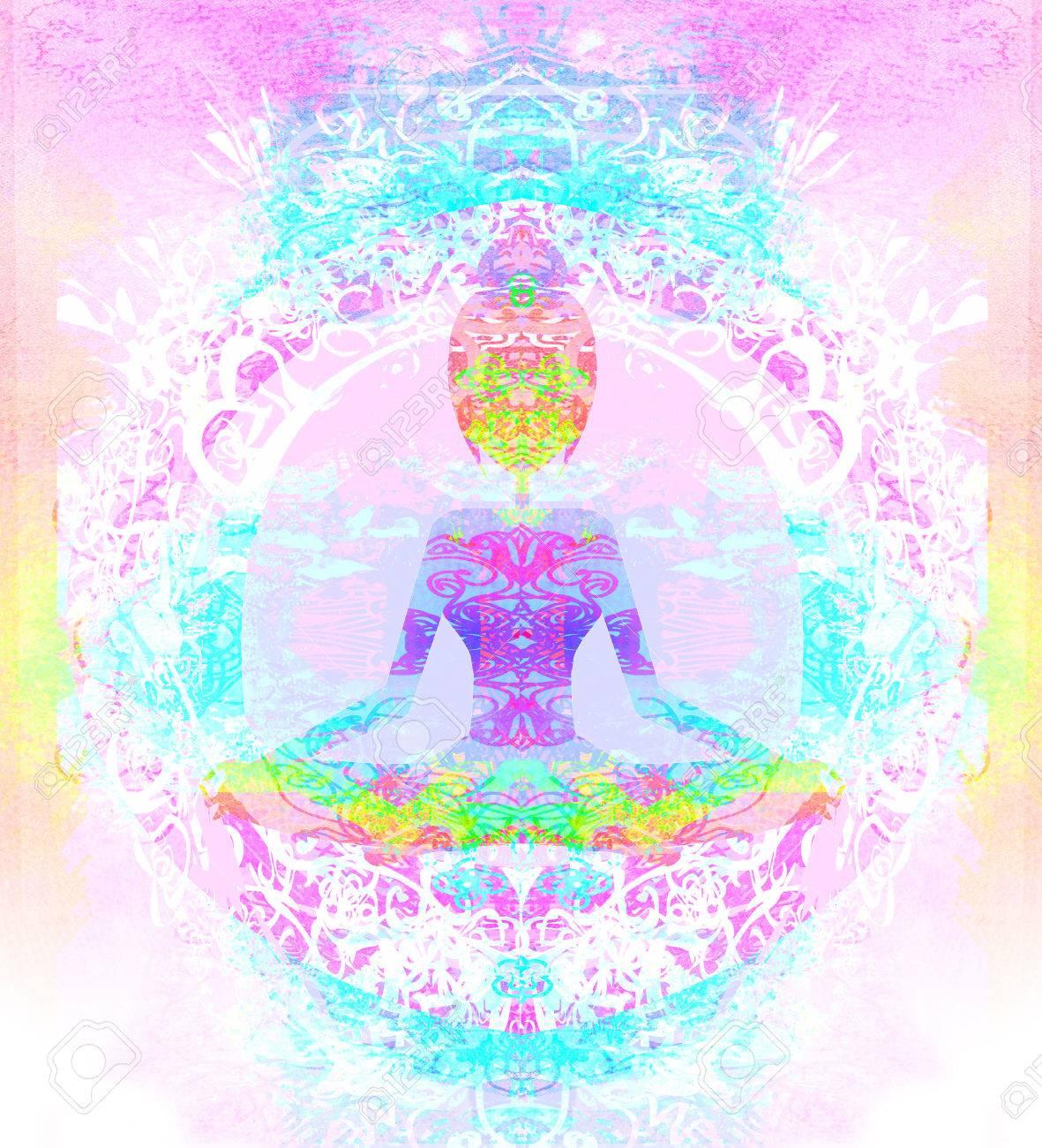 Yoga lotus pose. - 32350170