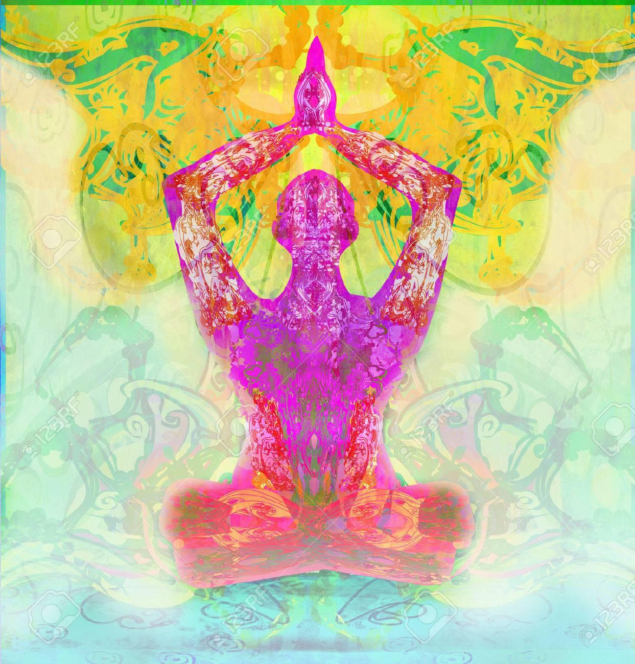 men in meditation - 34432851
