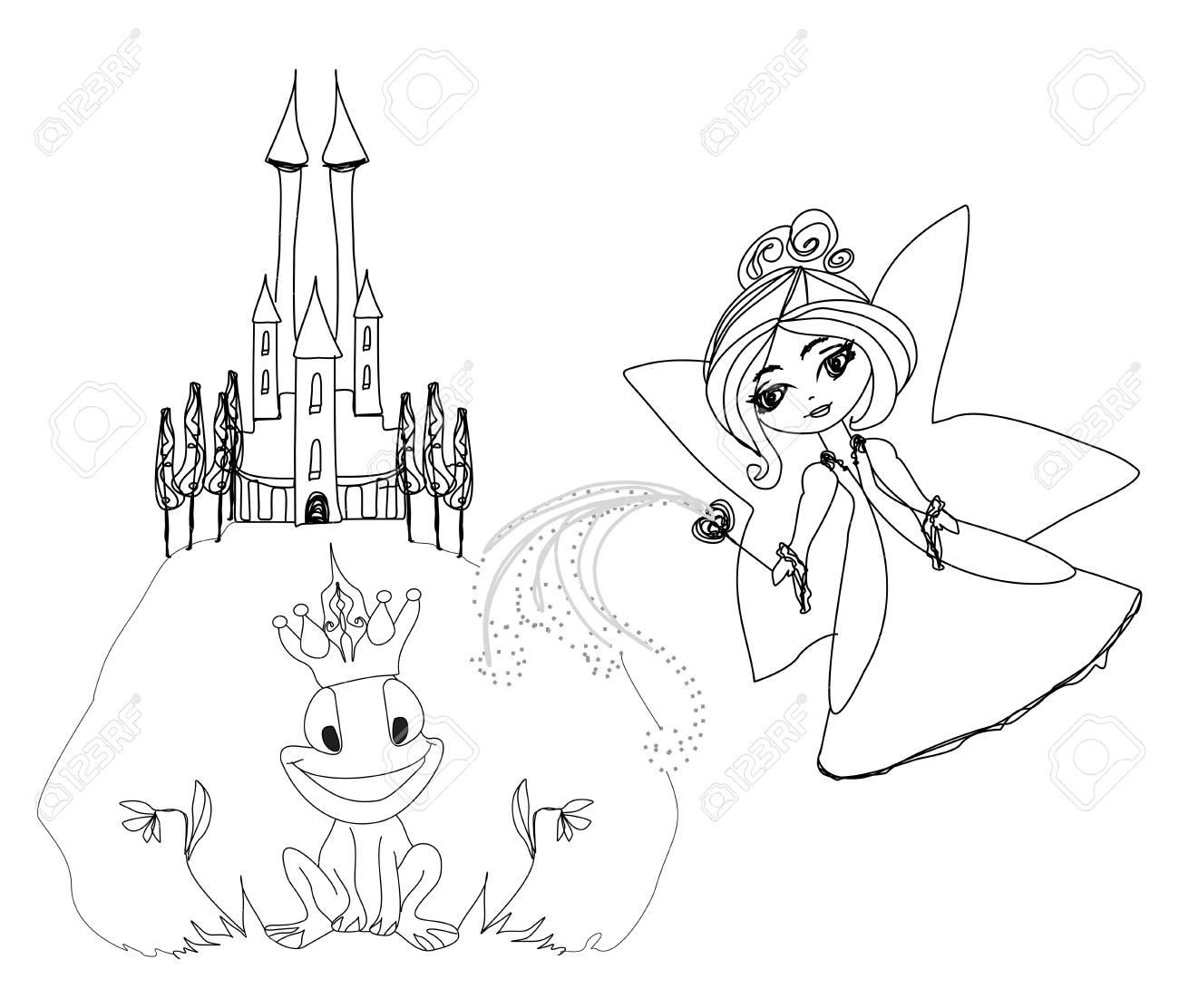 Lujoso Página Para Colorear De Príncipe Rana Foto - Dibujos Para ...