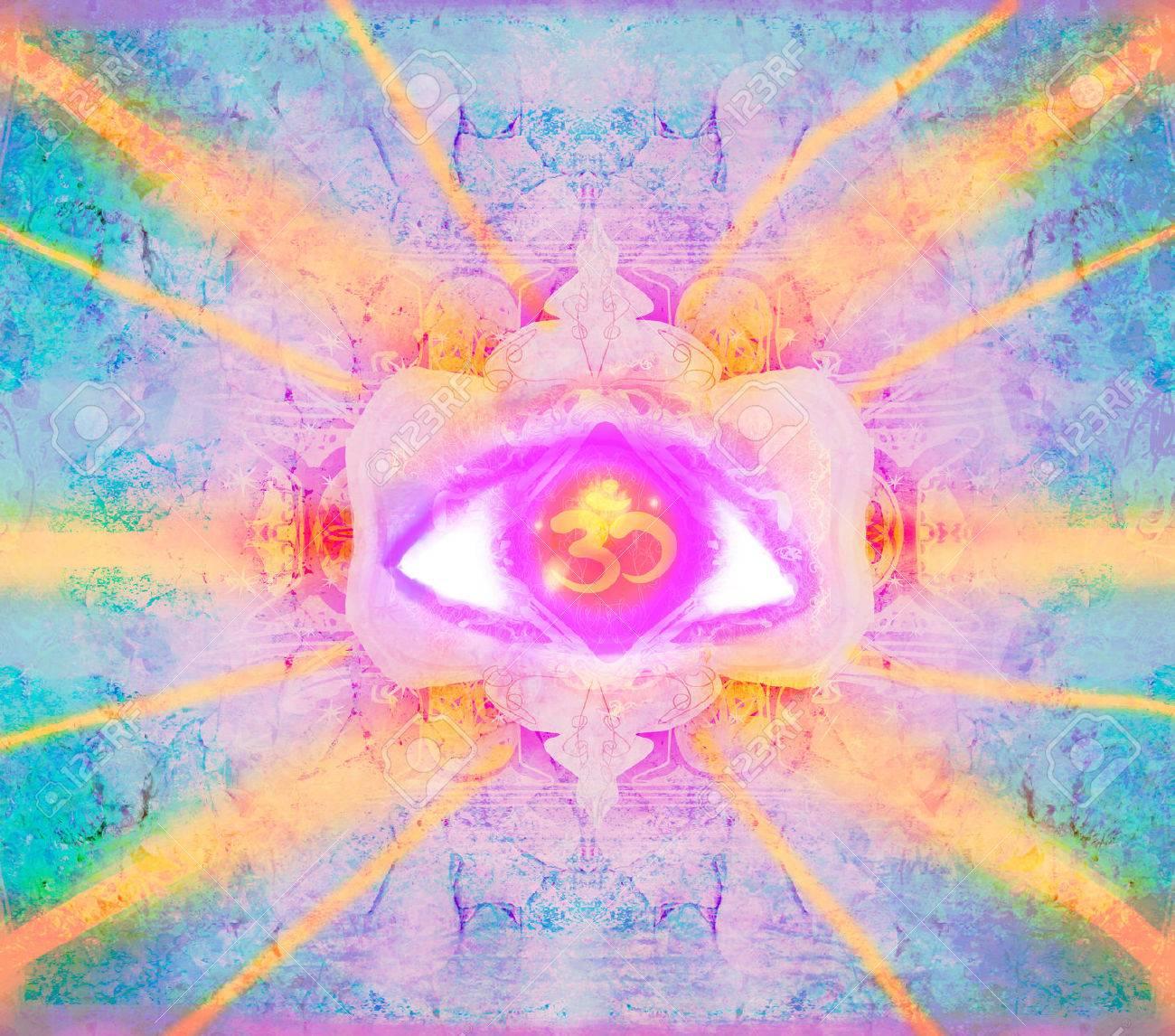 illustration of a third eye mystical sign - 47162211