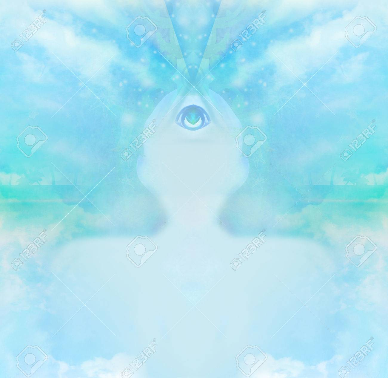 man with third eye, psychic supernatural senses - 62189184