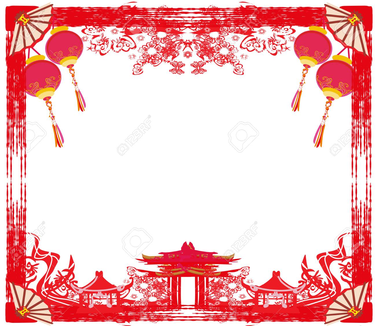 Mid Autumn Festival For Chinese New Year Frame Royalty Free