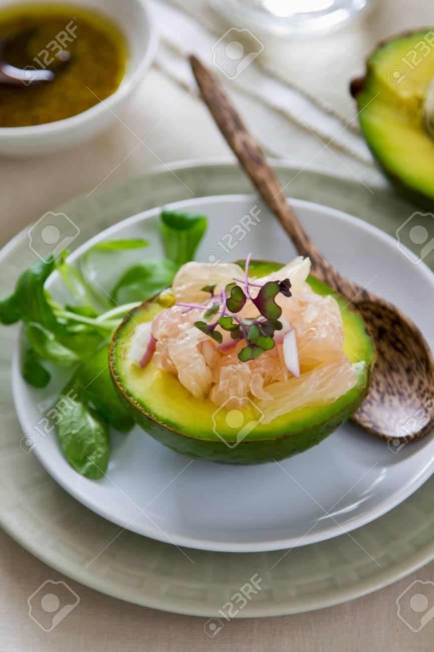 Avocado and Grapefruit salad Stock Photo - 14599818