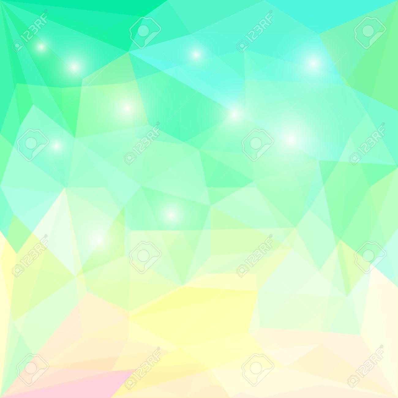 Brillante De La Primavera Fresca Fondo Geométrico De Color Verde ...