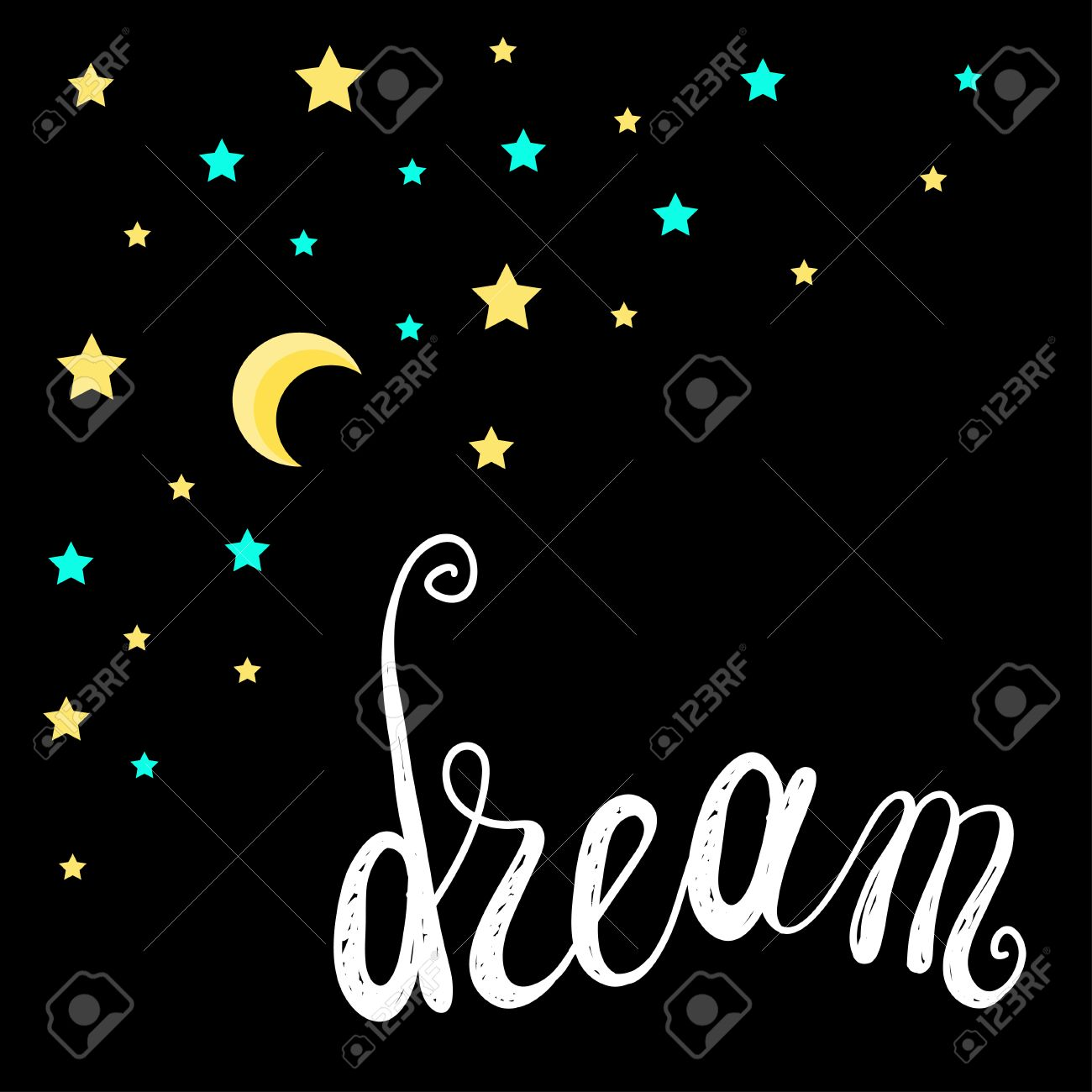Good Night And Sweet Dreams Theme Background. Abstract Card, Poster