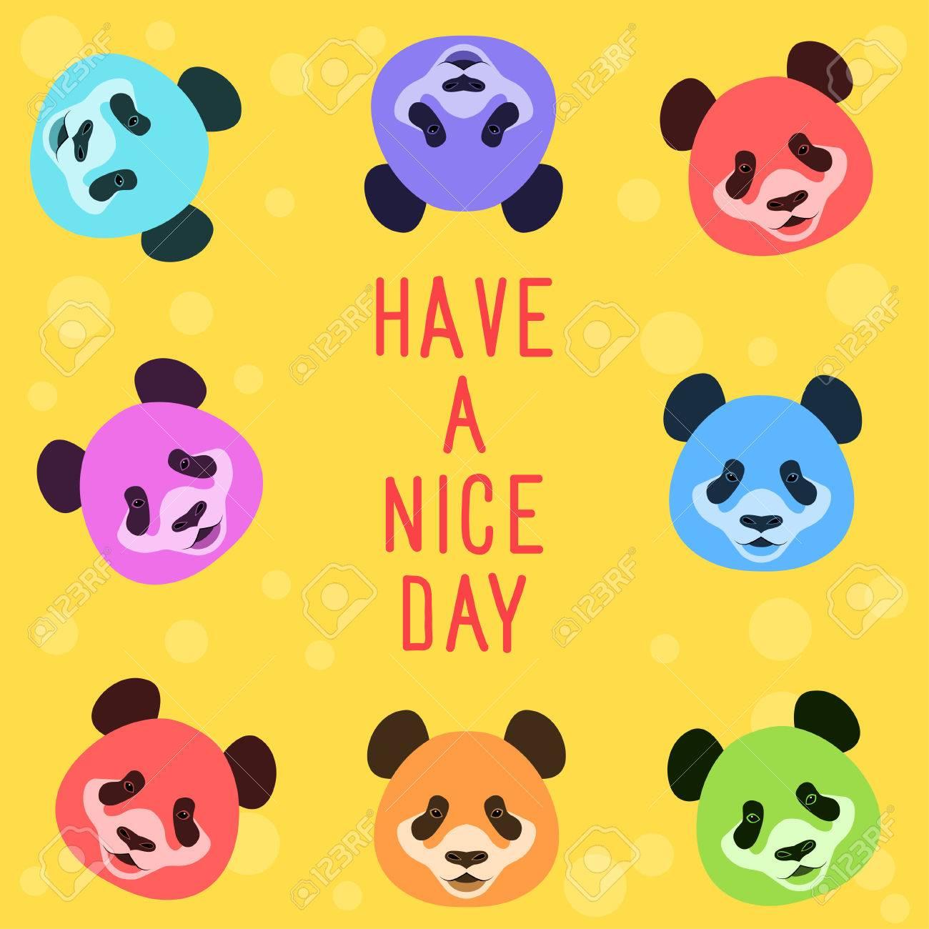 Panda Bear Card Funny Card Template Cartoon Panda Bear Have
