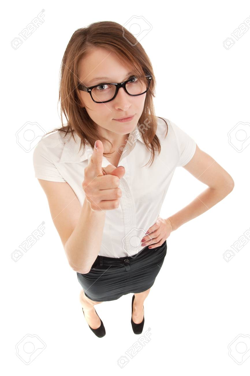 Business woman wagging her finger Stock Photo - 16536925