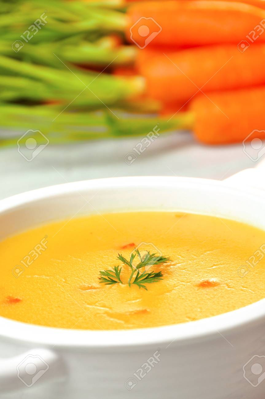 carrot soup Stock Photo - 18008036