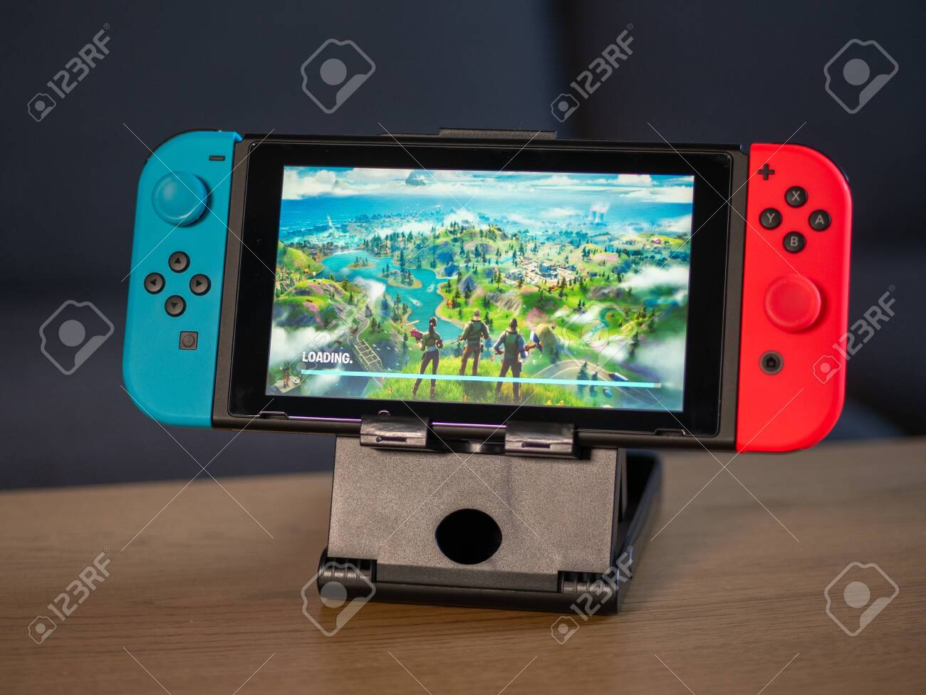 Uk Feb 2020 Nintendo Switch Games Console With Fortnite Game Stock Photo Picture And Royalty Free Image Image 141403135