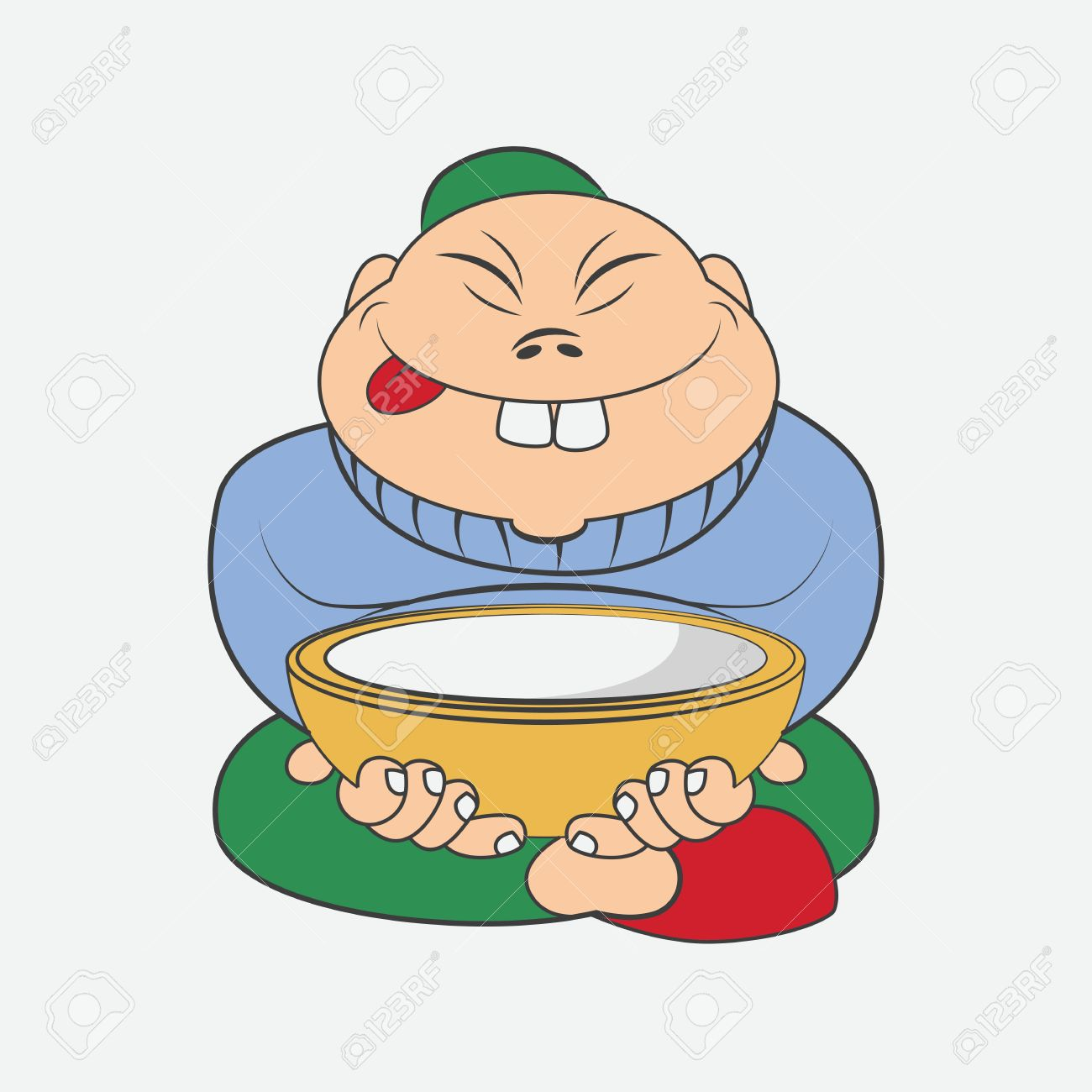 cartoon chinese man sitting with a plate royalty free cliparts rh 123rf com cartoon chinese lantern cartoon chinese old man