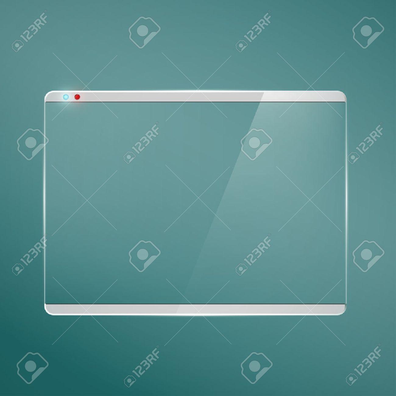 Transparent glass futuristic screen. - 50100141