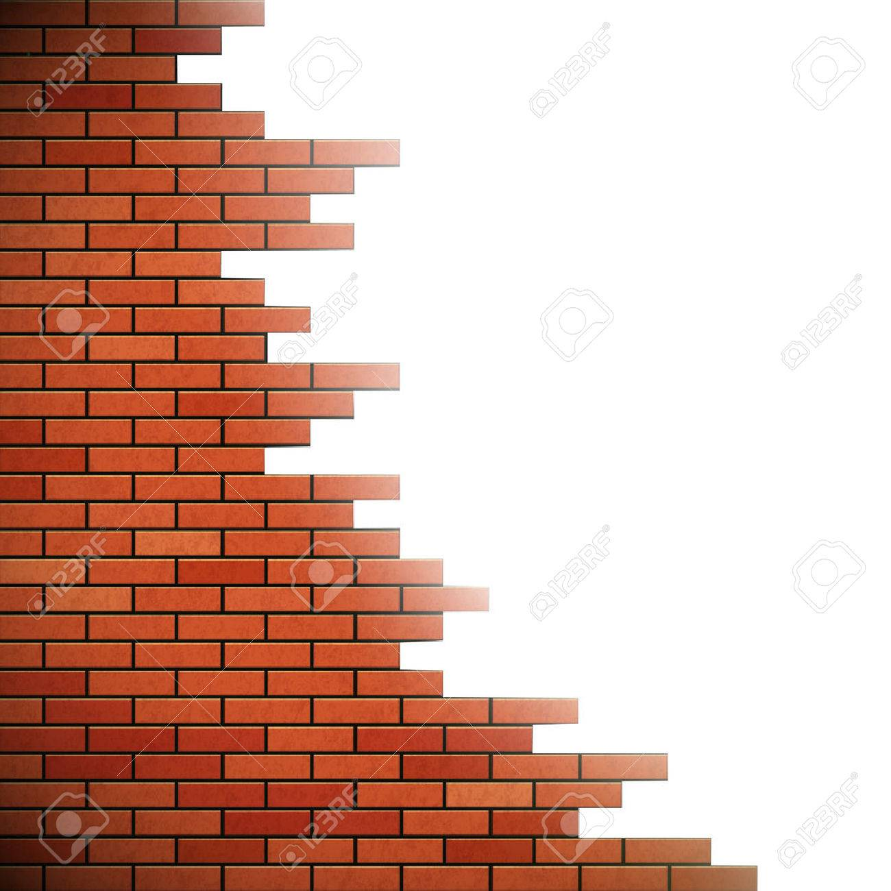 Wall of red brick. Hole in the wall. Stock vector illustration. - 51838052