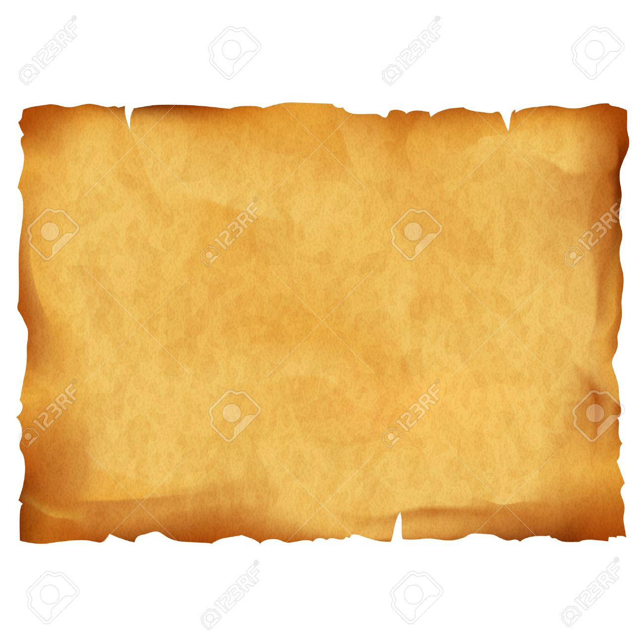 Old parchment isolated on white background. Stock vector illustration. - 54148588