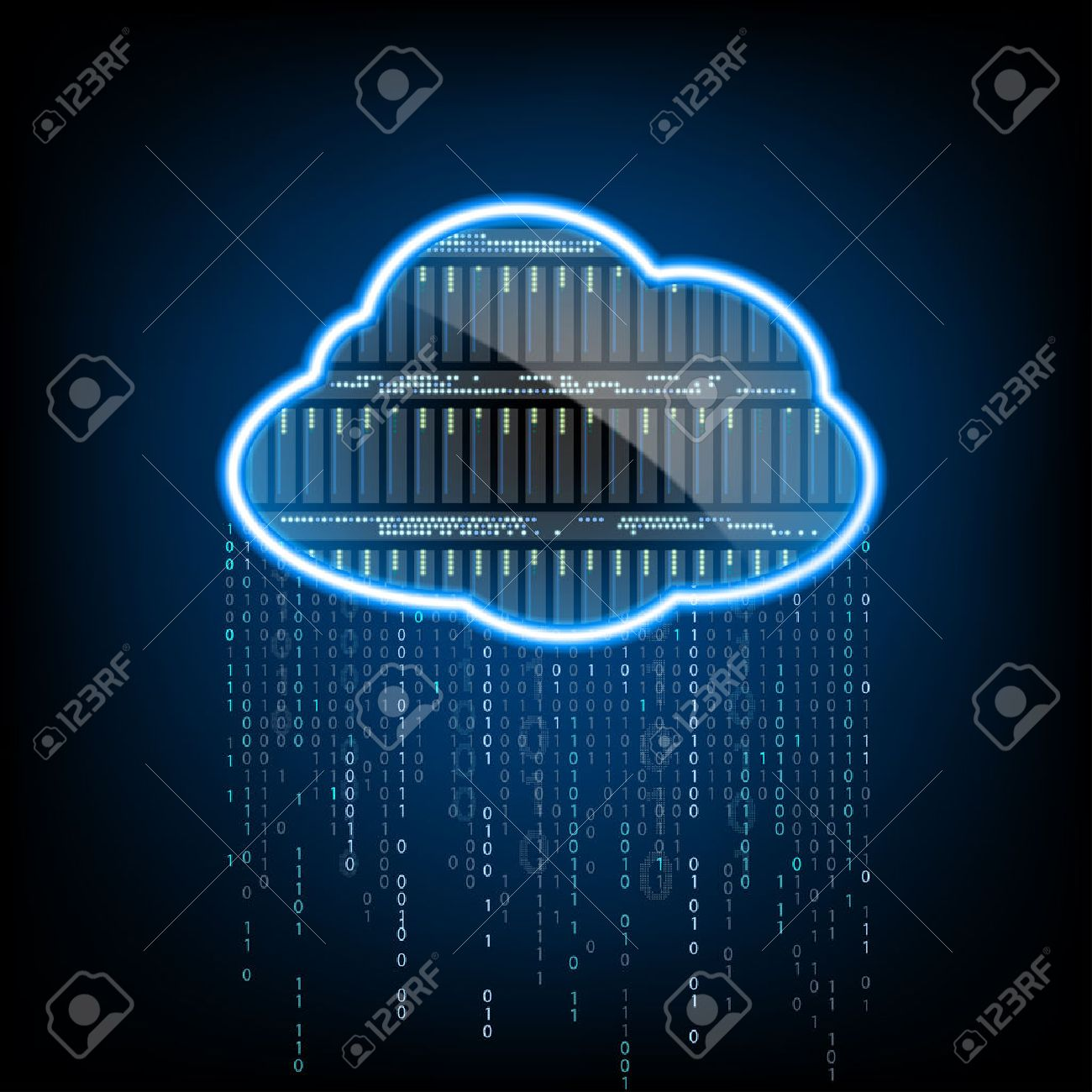 Cloud computing. Server for data storage. Abstract technology background. Stock vector illustration. - 55927842