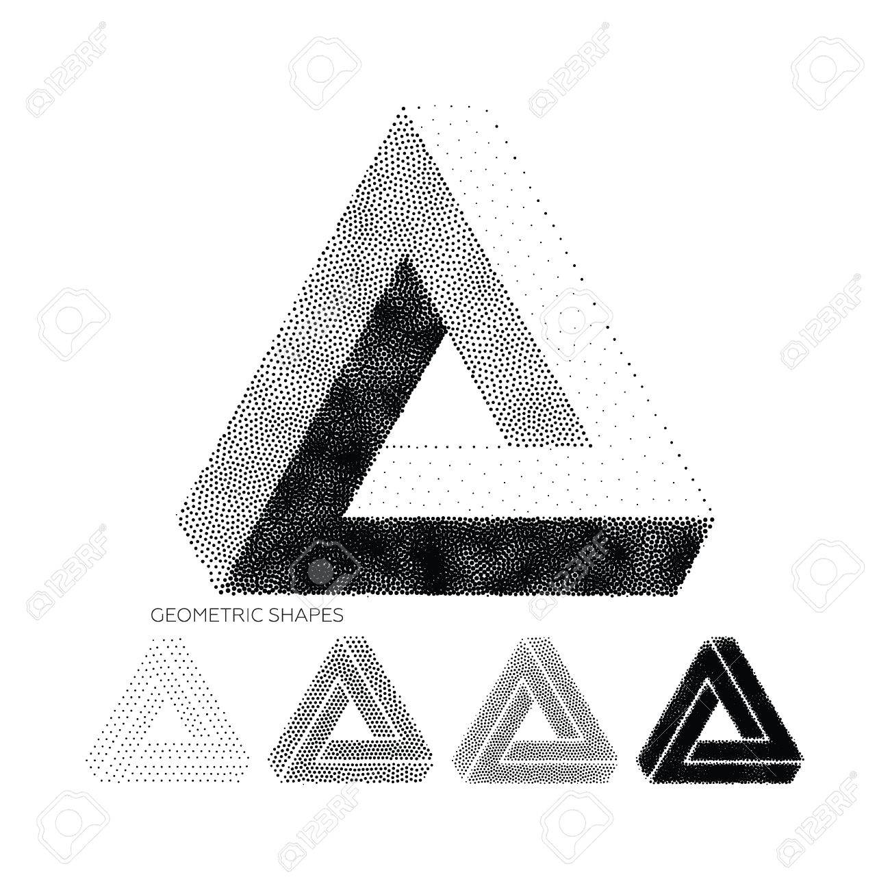 abstract 3d triangles geometric design element new amazing hipster background modern pointillism design