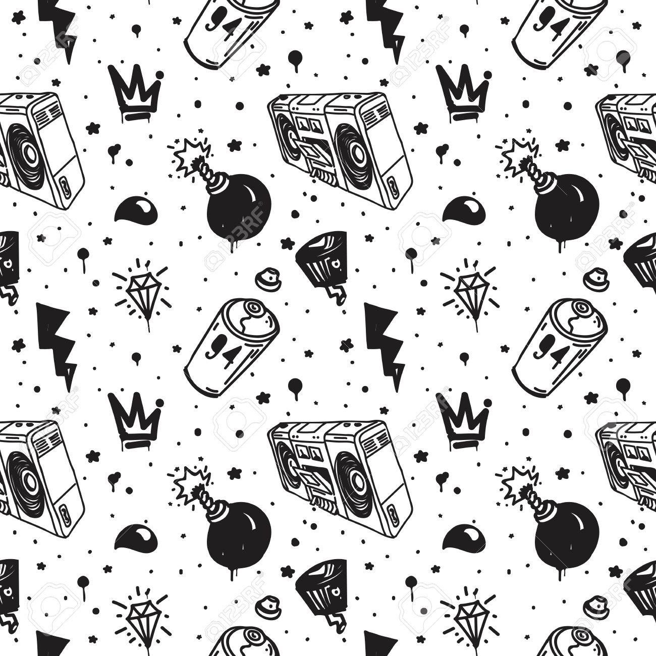 graffiti black graphic spray can cartoon doodle sketch grunge