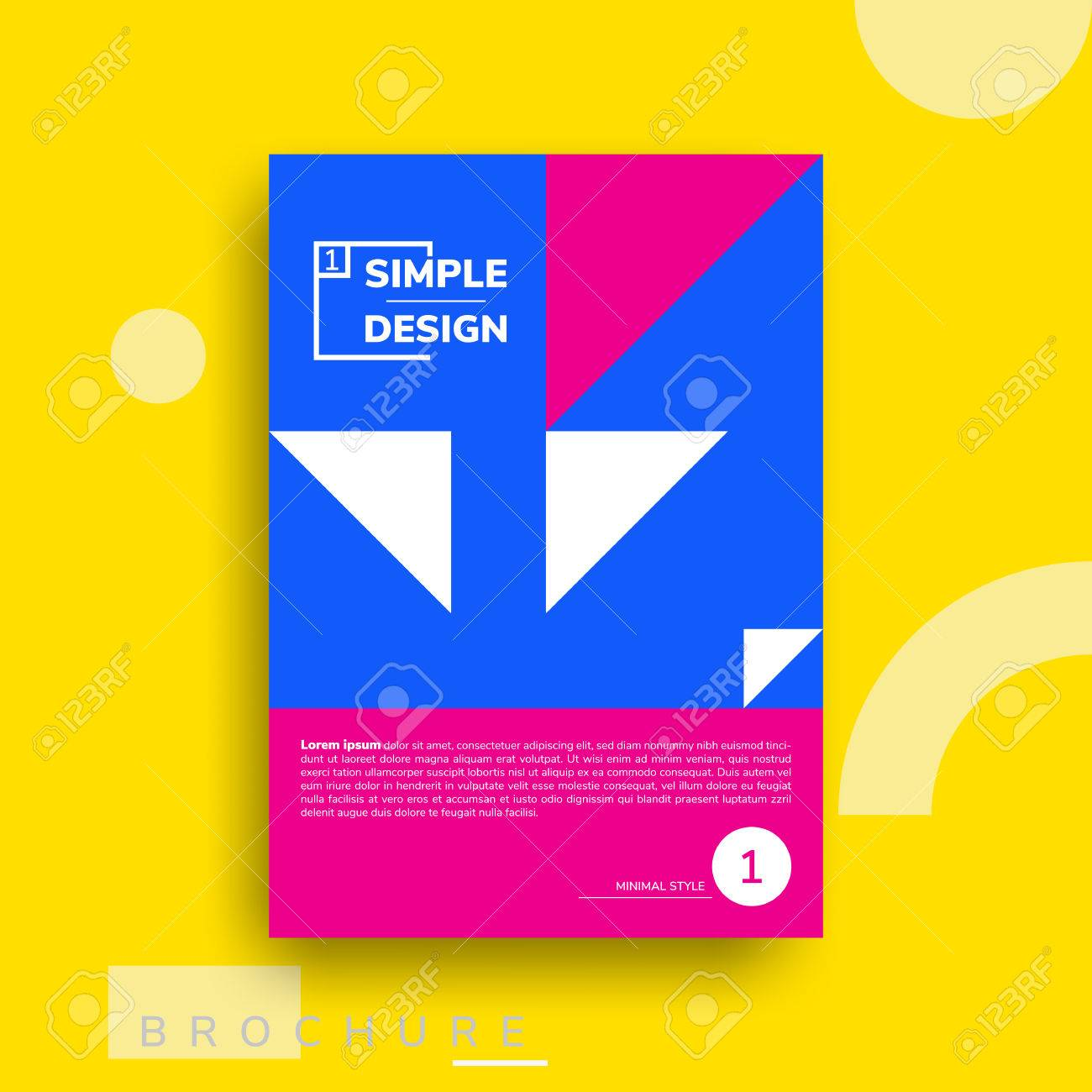 colorful flat geometric covers design vector poster template