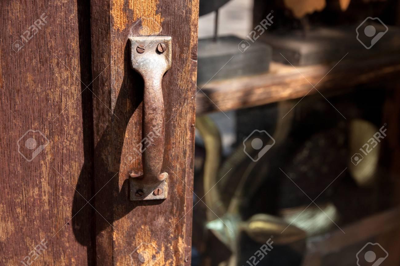 Simple Door Knob   Vintage Style Stock Photo   32231744