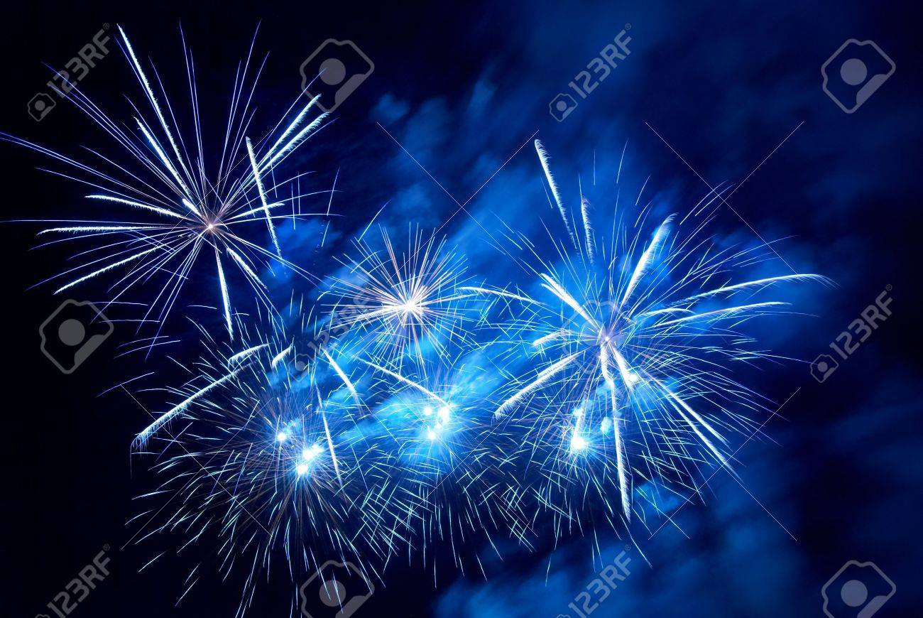 Fireworks, salute with the black sky background Stock Photo - 5264915