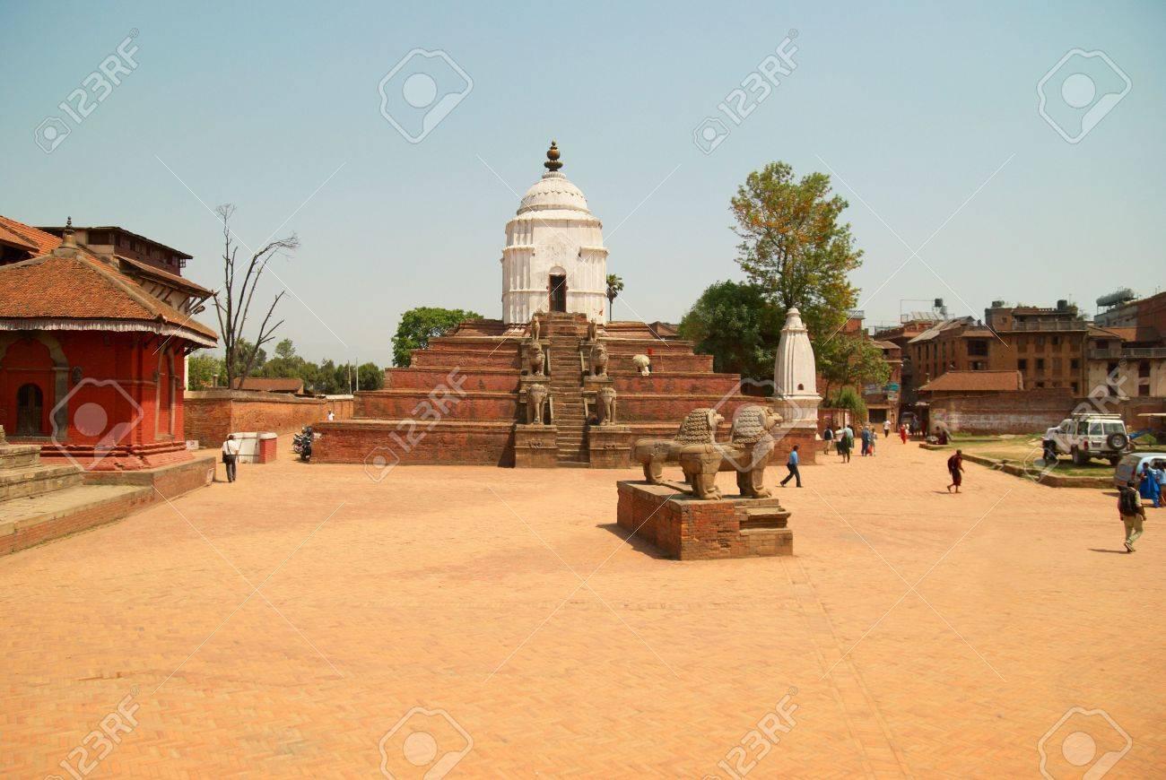 Temple of old buddhistic city. Baktaphur, Nepal Stock Photo - 5515450