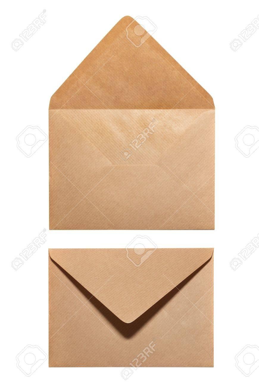 2 sides of envelope isolated on white background Stock Photo - 5540629