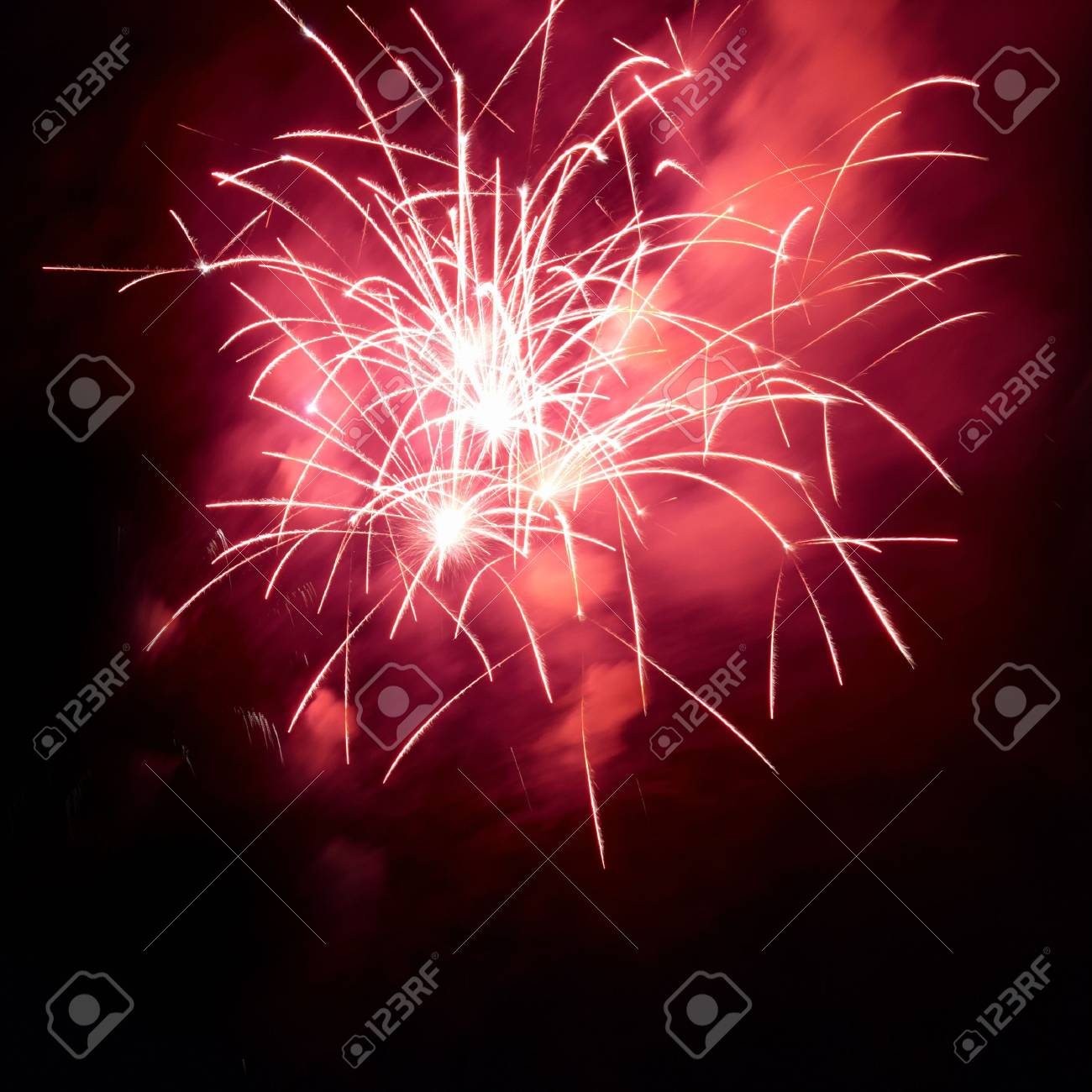 Fireworks, salute with the black sky background Stock Photo - 5650109