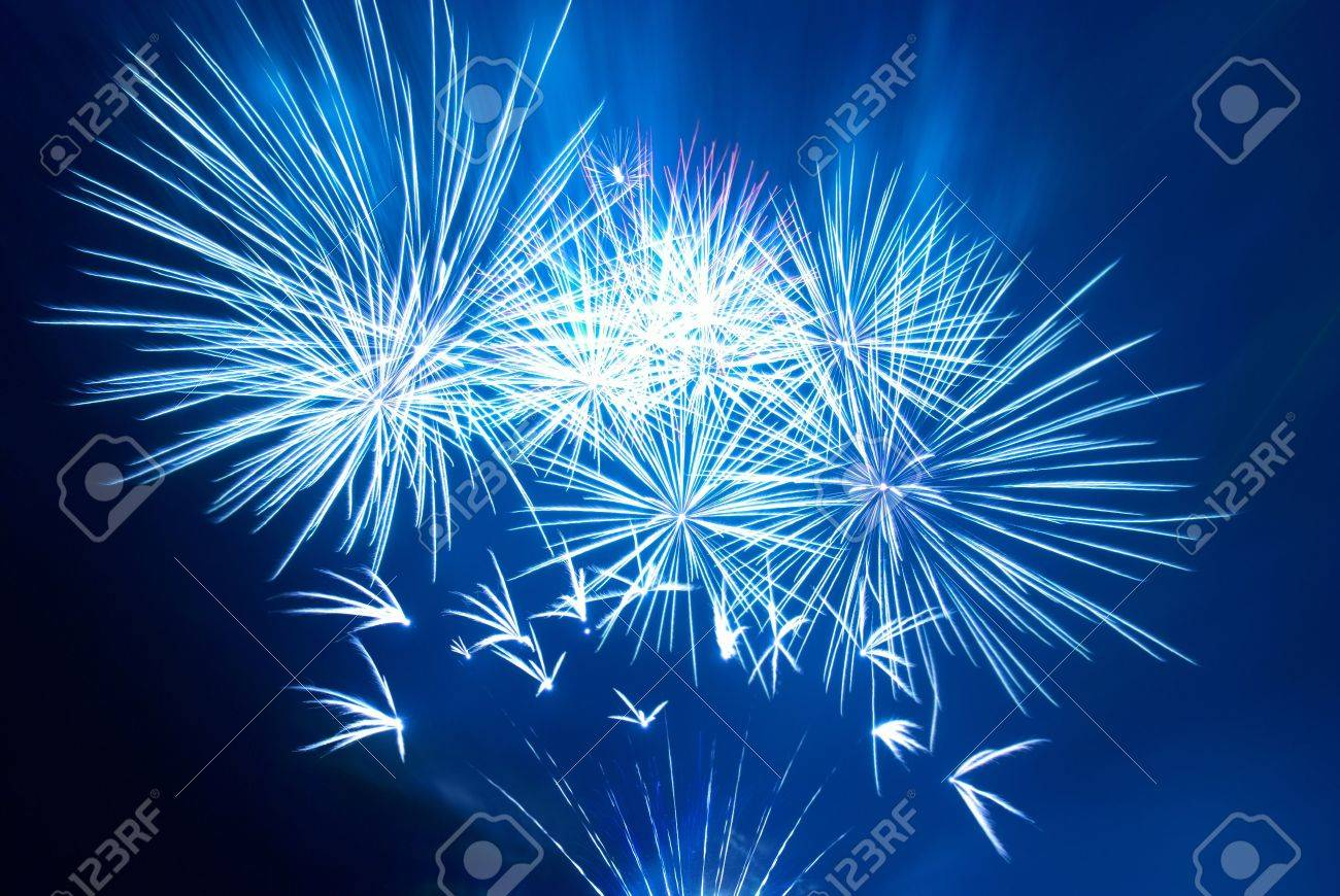 Beautiful fireworks on the black sky background Stock Photo - 5918465