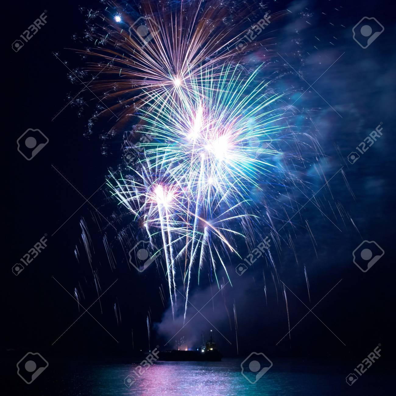 Fireworks, salute with the black sky background Stock Photo - 6092291