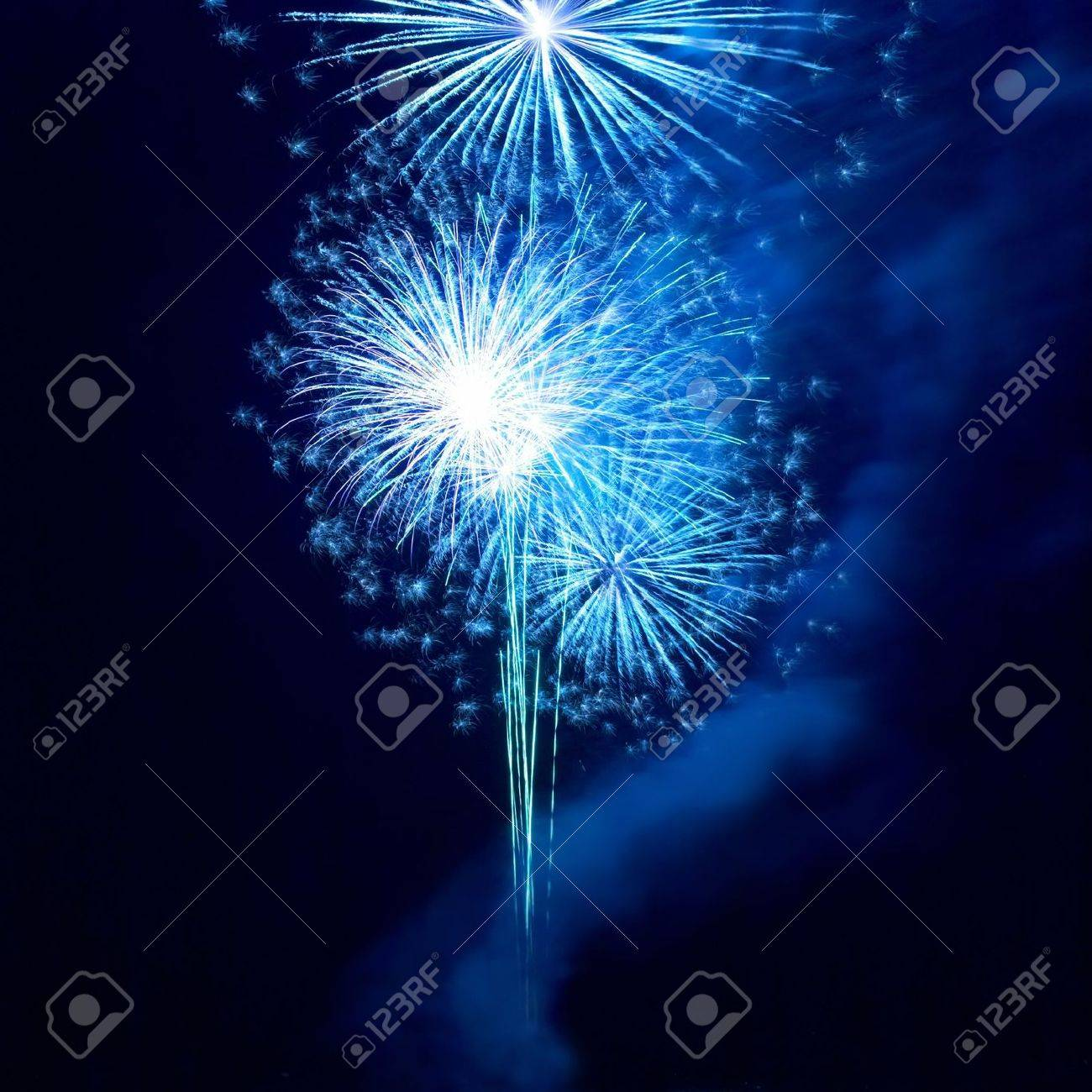 Fireworks, salute with the black sky background Stock Photo - 6113633