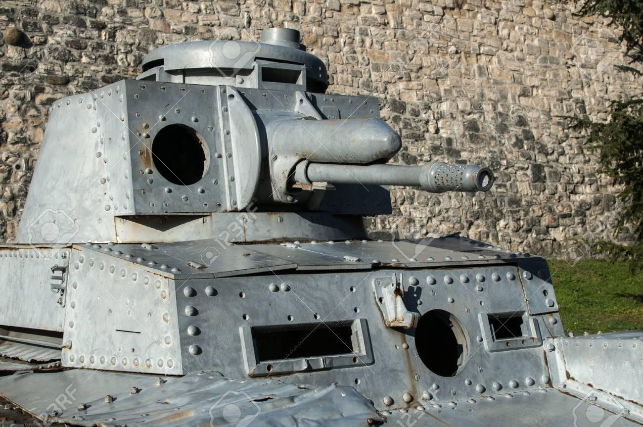 German Panzer II World War Two light tank detail closeup